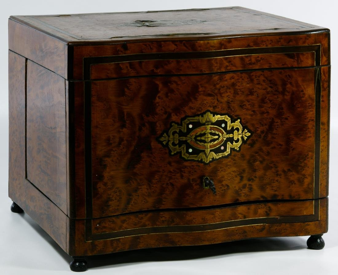 Burled Walnut Inlay Tantalus