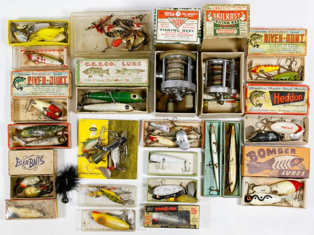 Fishing Lure, Reel and Pole Assortment