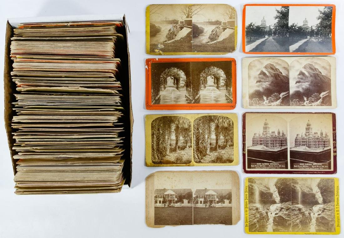 Cabinet Size Stereoview Card Assortment