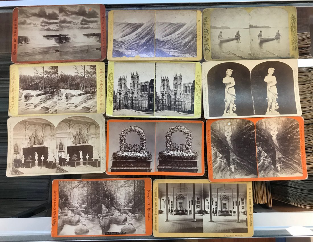 Cabinet Size Stereoview Card Assortment - 3