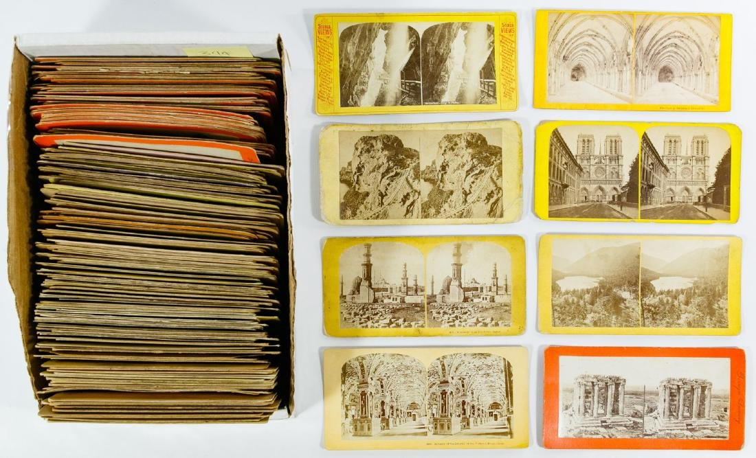 European Architecture and City Stereoview Card