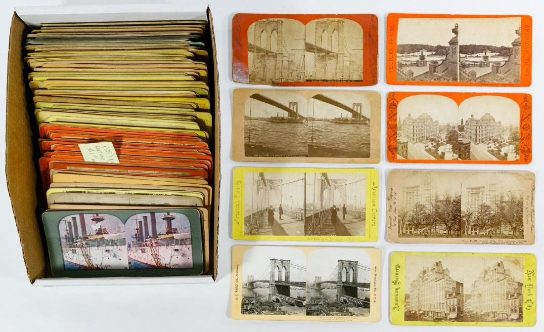 New York City, Central Park and Brooklyn Stereoview