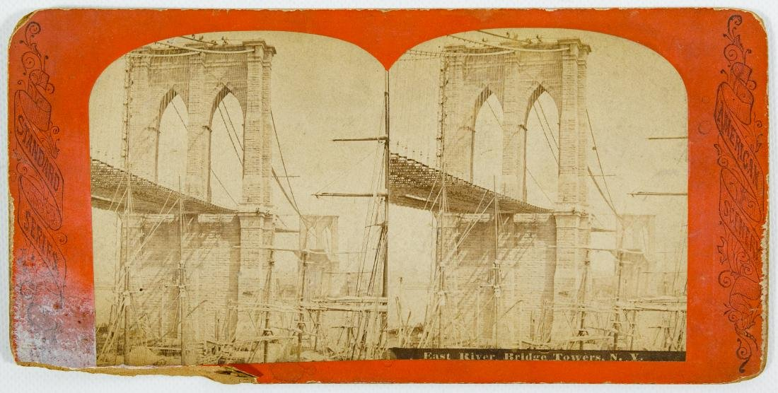 New York City, Central Park and Brooklyn Stereoview - 2