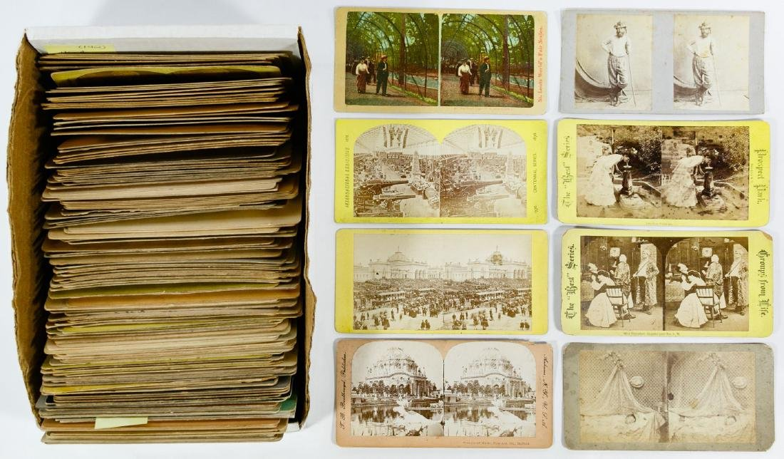 Small Company, Figural Group and World Fair Stereoview