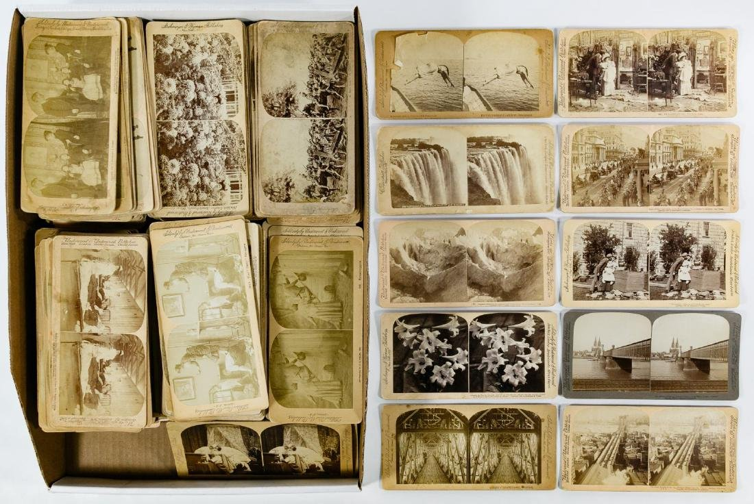 Underwood and Underwood Stereoview Card Assortment