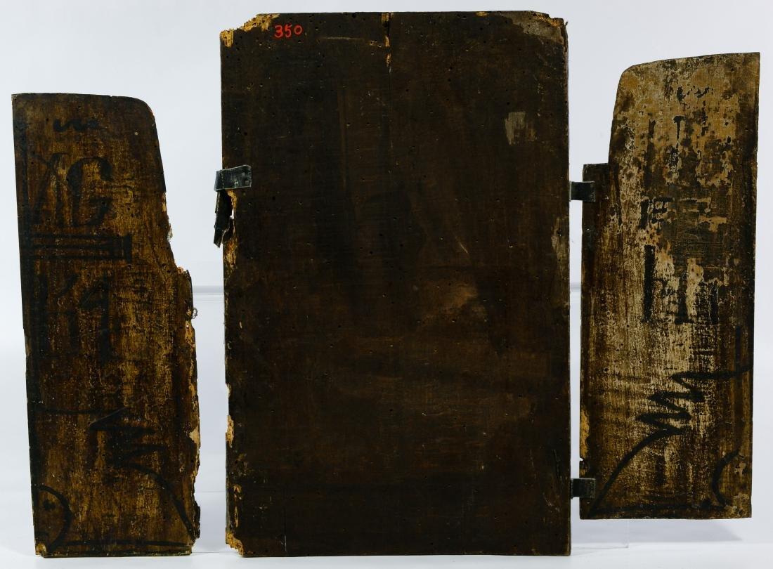 Greek Triptych Icon and Illuminated Manuscript - 2