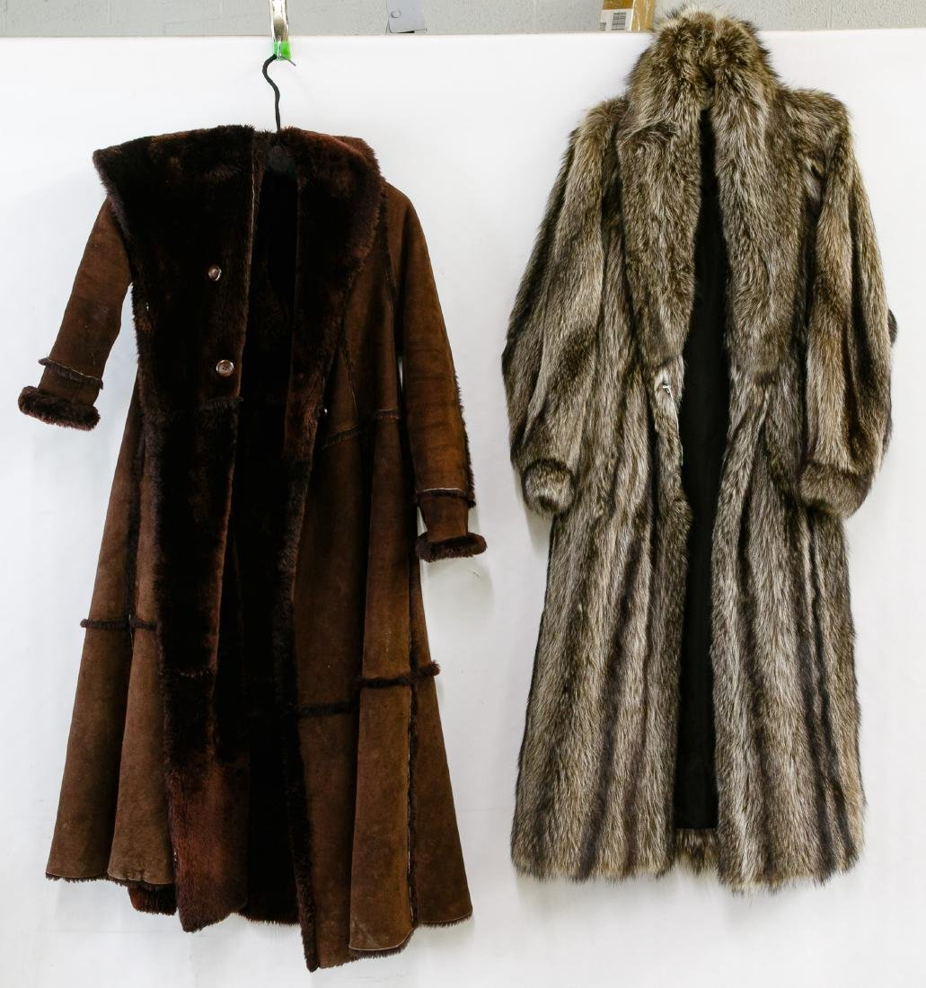 Racoon Fur and Shearling Coats