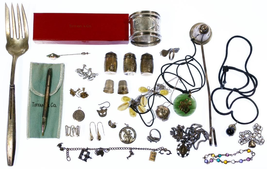 Stering Silver Jewelry and Tableware Assortment