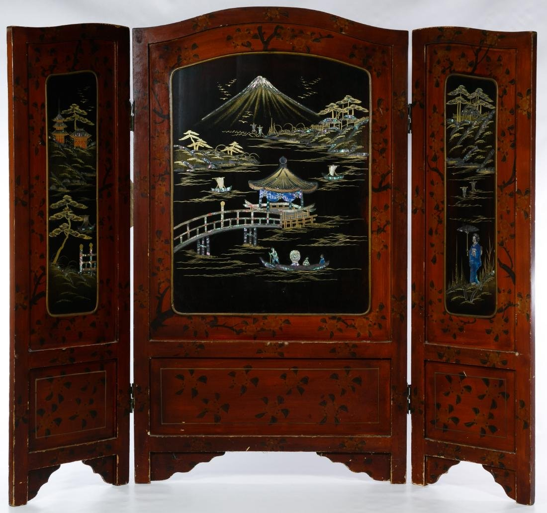 Japanese Lacquer Screen