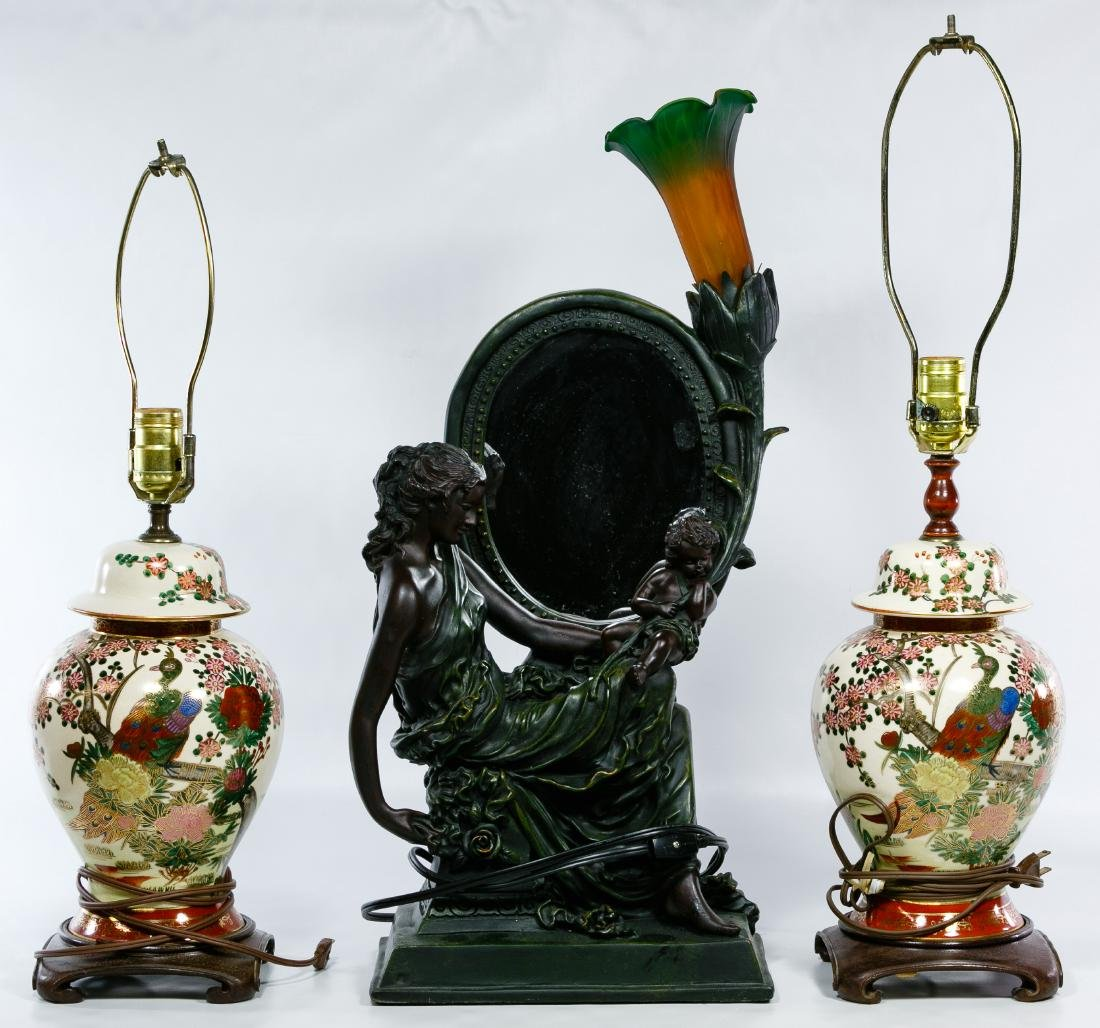 Figural and Asian Lamp Assortment