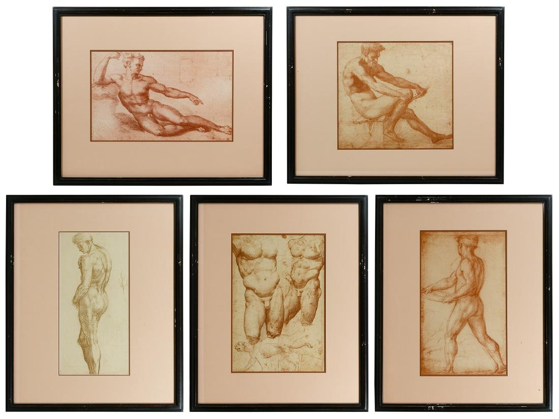 Italian Renaissance Style Male Torso Prints