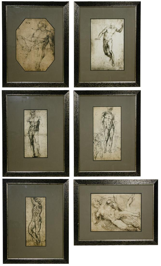 Italian Renaissance Style Nude Male Prints