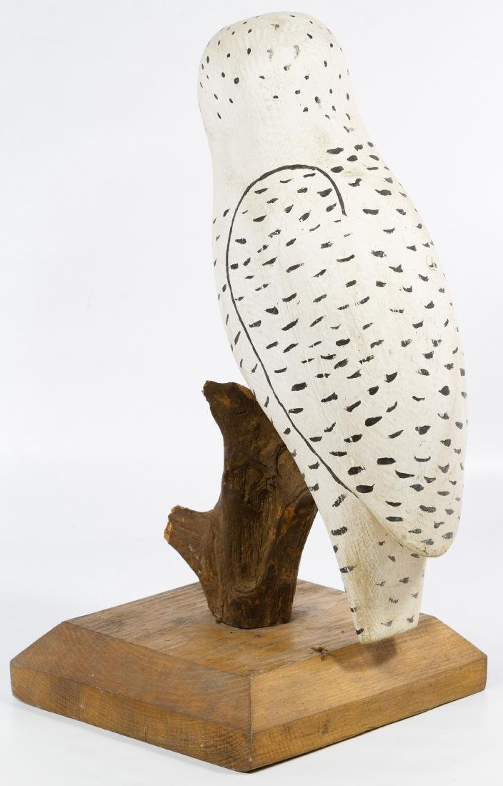 Carved and Painted Folk Art Owl - 2