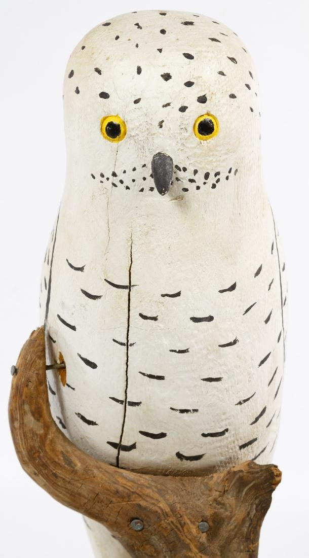 Carved and Painted Folk Art Owl - 3