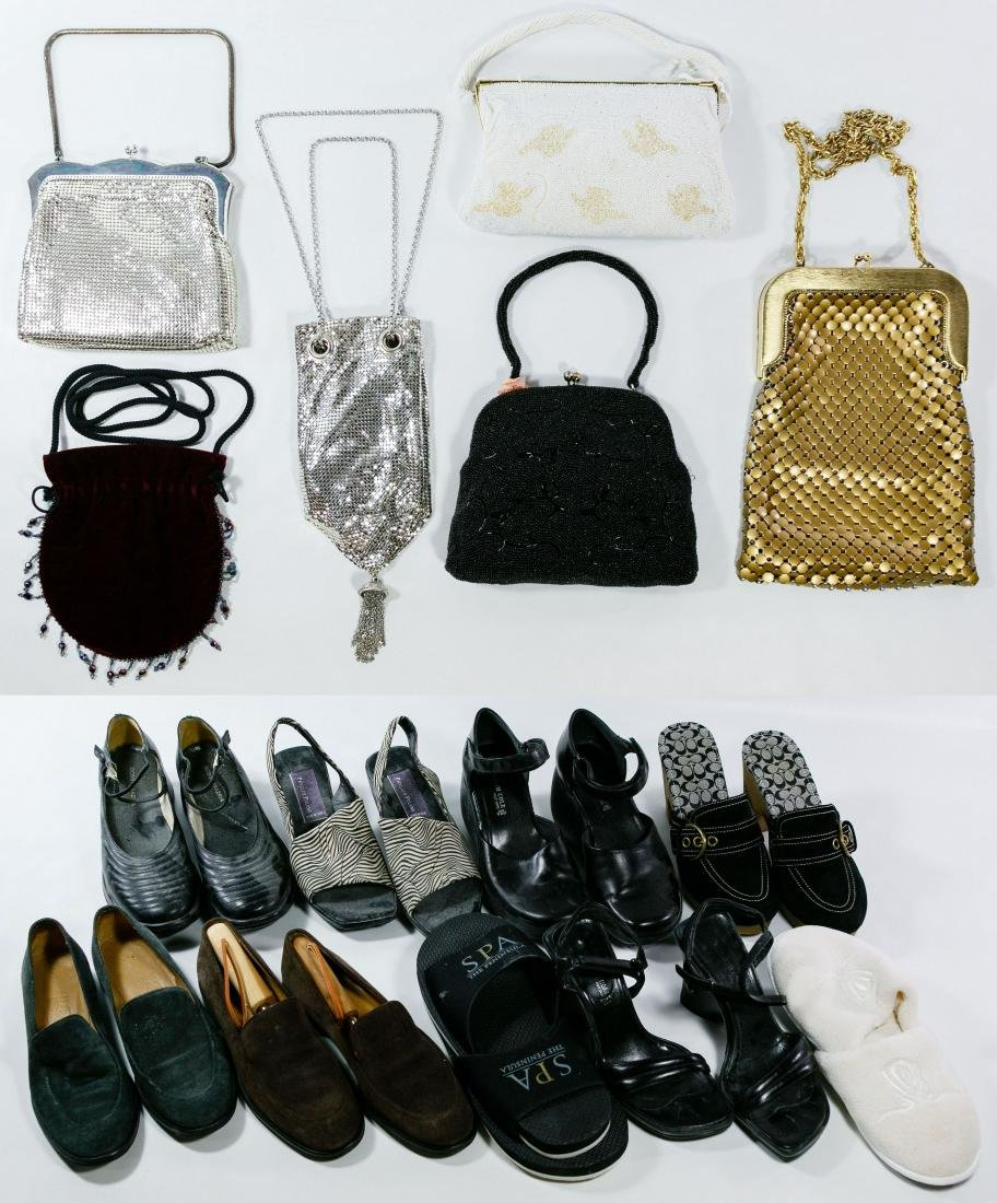 Mesh Purse and Designer Shoe Assortment