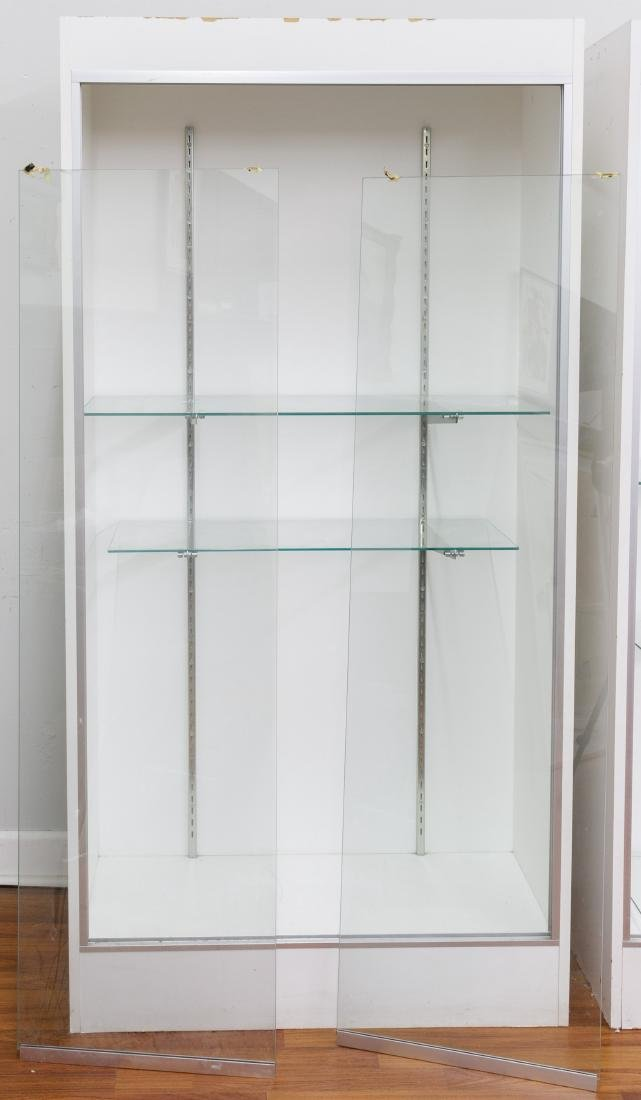 Laminate and Glass Lighted Display Case