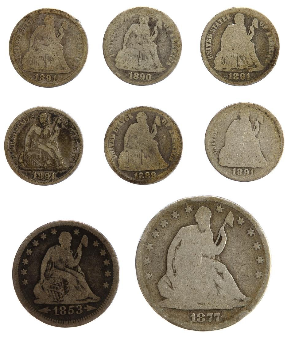 Seated Liberty 10c, 25c and 50C Assortment