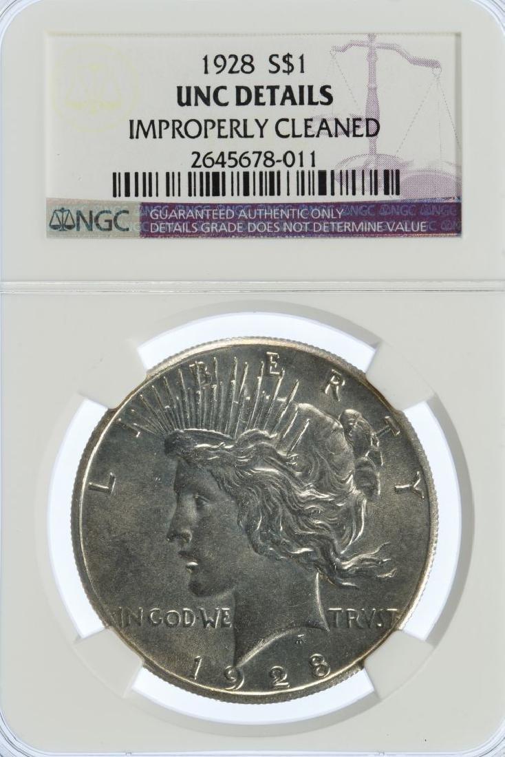 1928 $1 UNC Details NGC