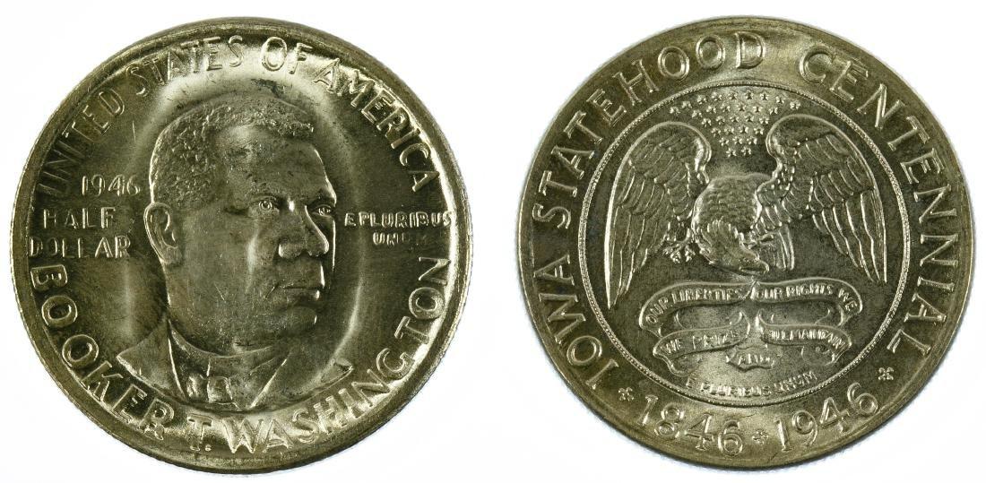 1946 50c Iowa and 1946-S 50c Washington BU