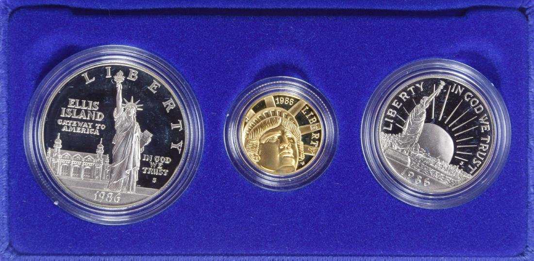 1986 US Liberty Gold Coin Set