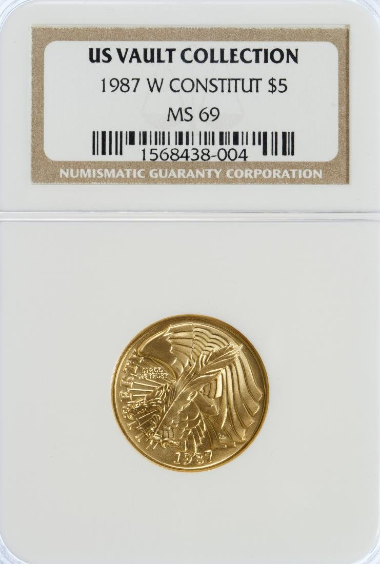 1987-W $5 Constitution MS-69 NGC