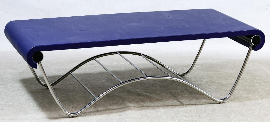 MCM Boulevard Bridge Leather Coffee Table by Knoll /
