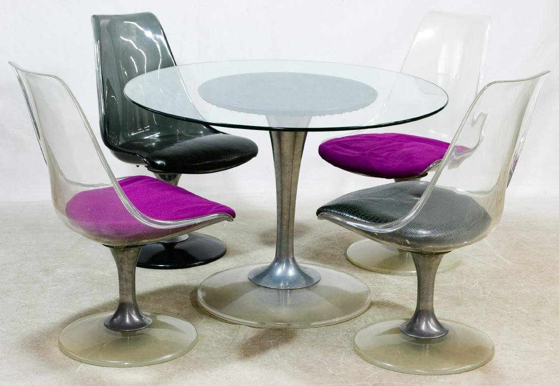 MCM Dinette Set Table and Chairs by Chromecraft