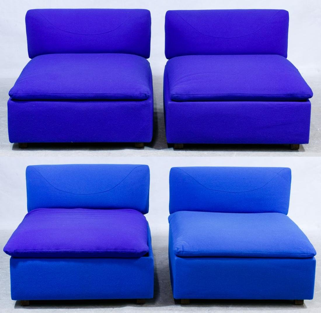 Modular Upholstered Pit Group Sectional Sofa