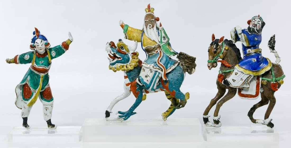 Chinese Ceramic Figural Roof Tiles