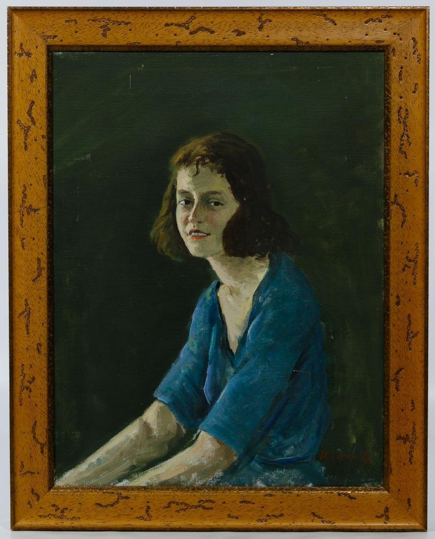 Nicolai Cikovsky (Russian, 1894-1987) 'Portrait' Oil on