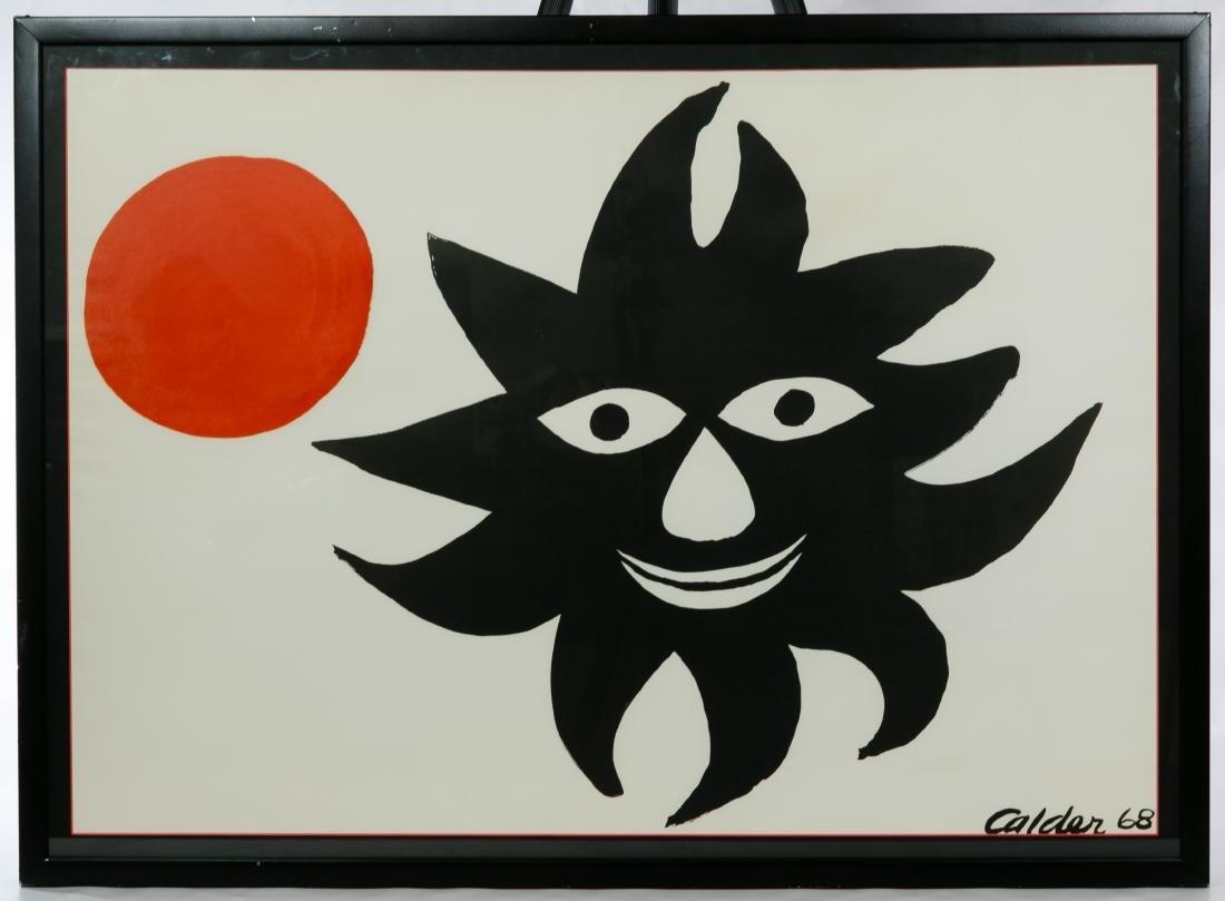 Alexander Calder (American, 1898-1976) 'Red Moon, Black