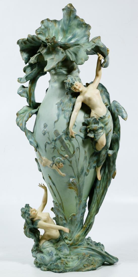 Turn-Teplitz Amphora Works Figural Vase