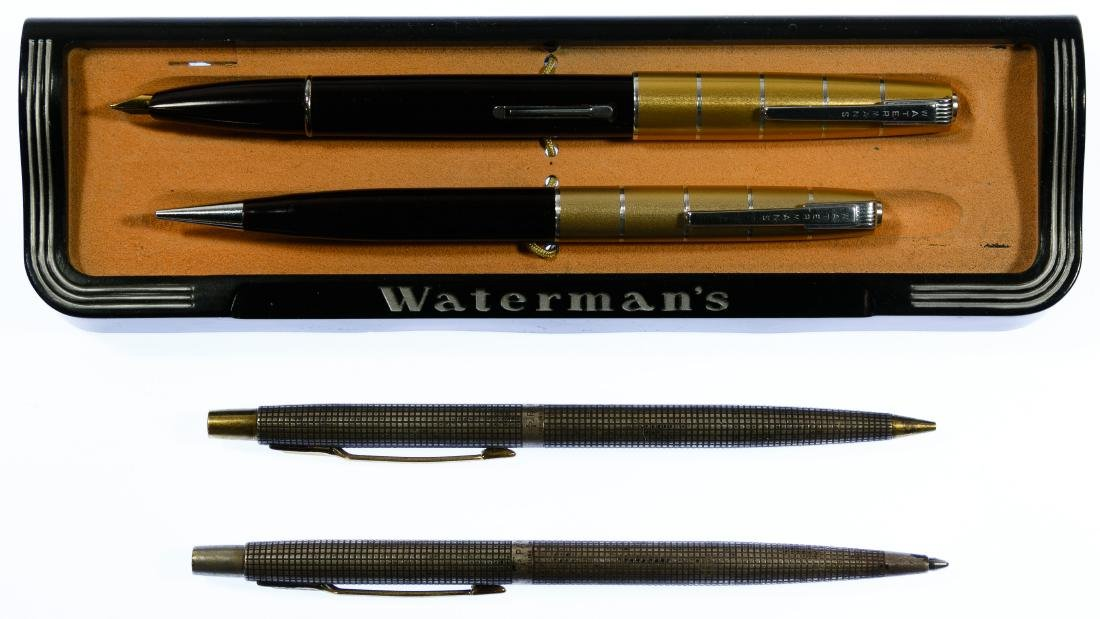 Parker Sterling Silver and Waterman Pen and Pencil Sets