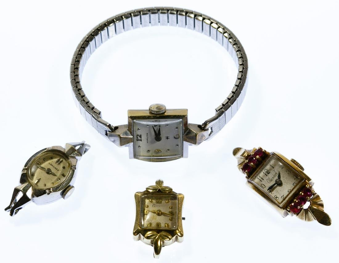 14k Gold Case Wrist Watch Assortment