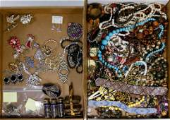 Sterling Silver, Rhinestone and Costume Jewelry
