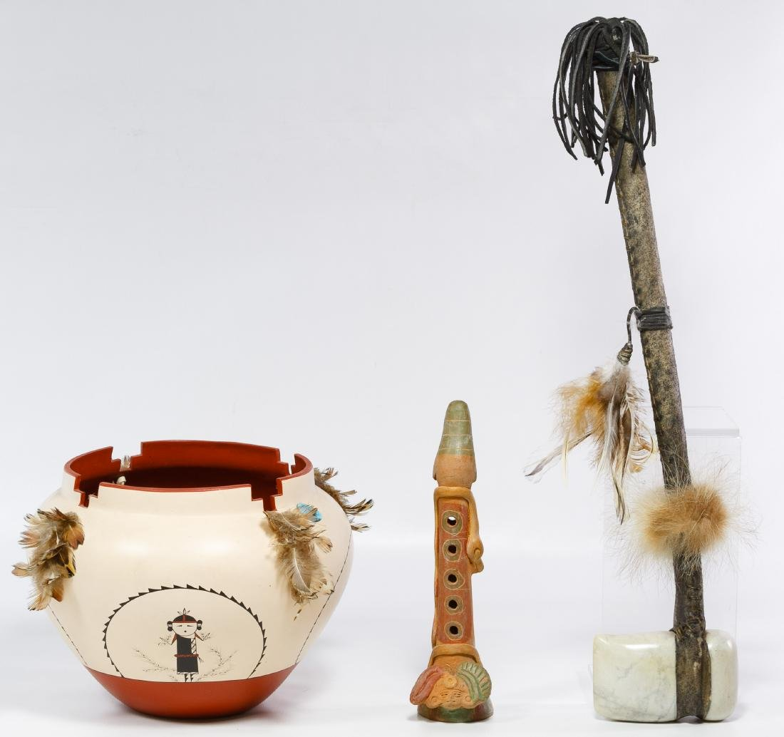 Stone Axe, Little Coyote Pottery and Ceramic Flute