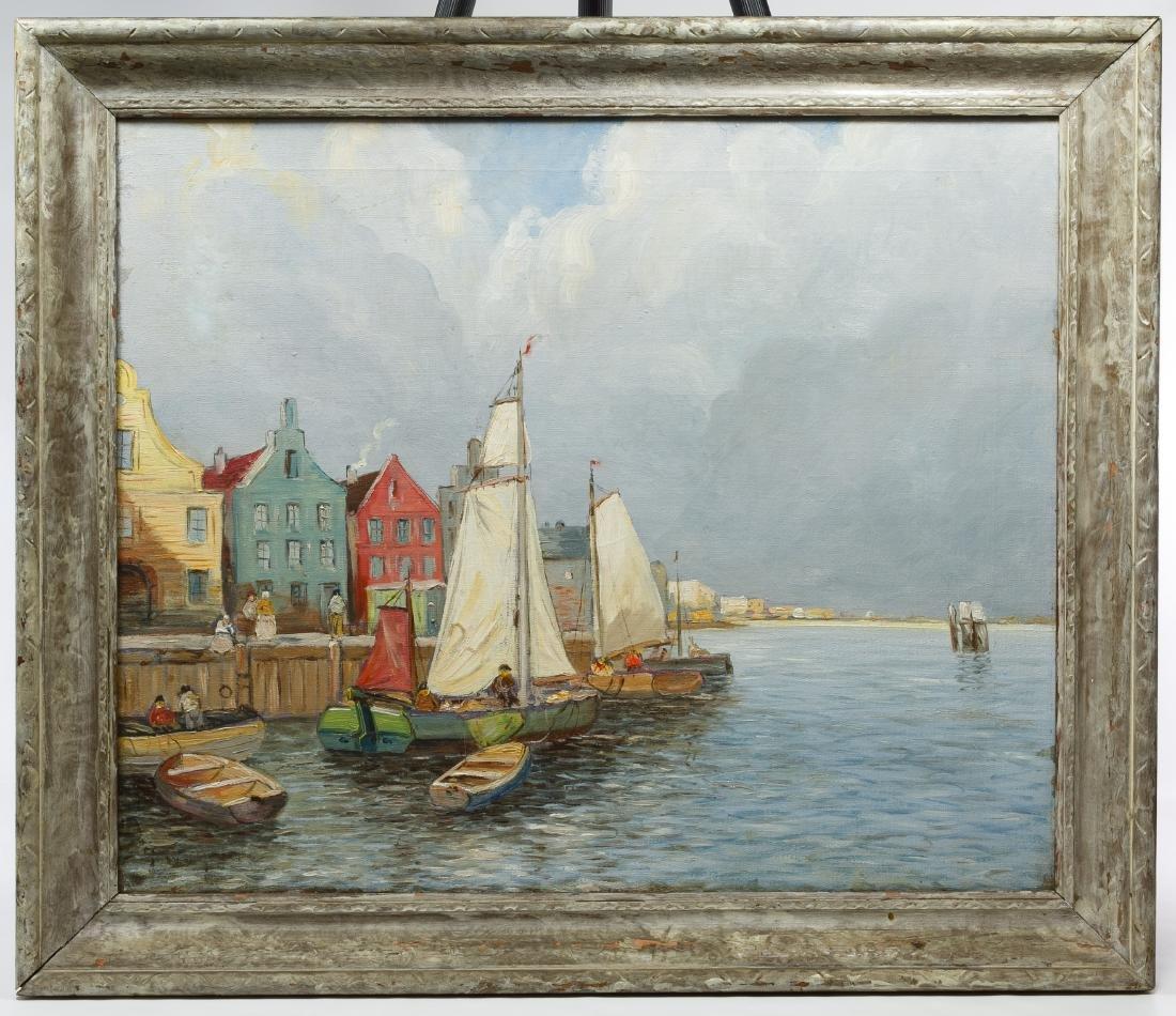 Dutch School (European, 20th Century) Oil on Canvas