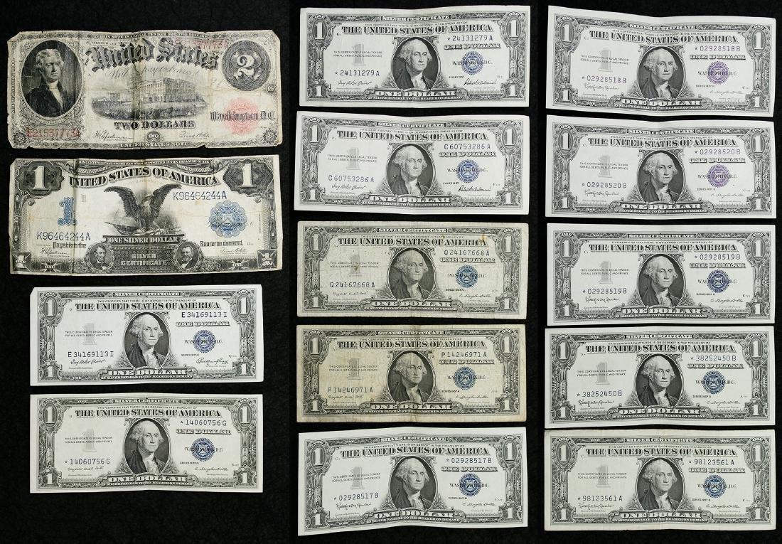 1899 $1 'Black Eagle' and 1917 $2