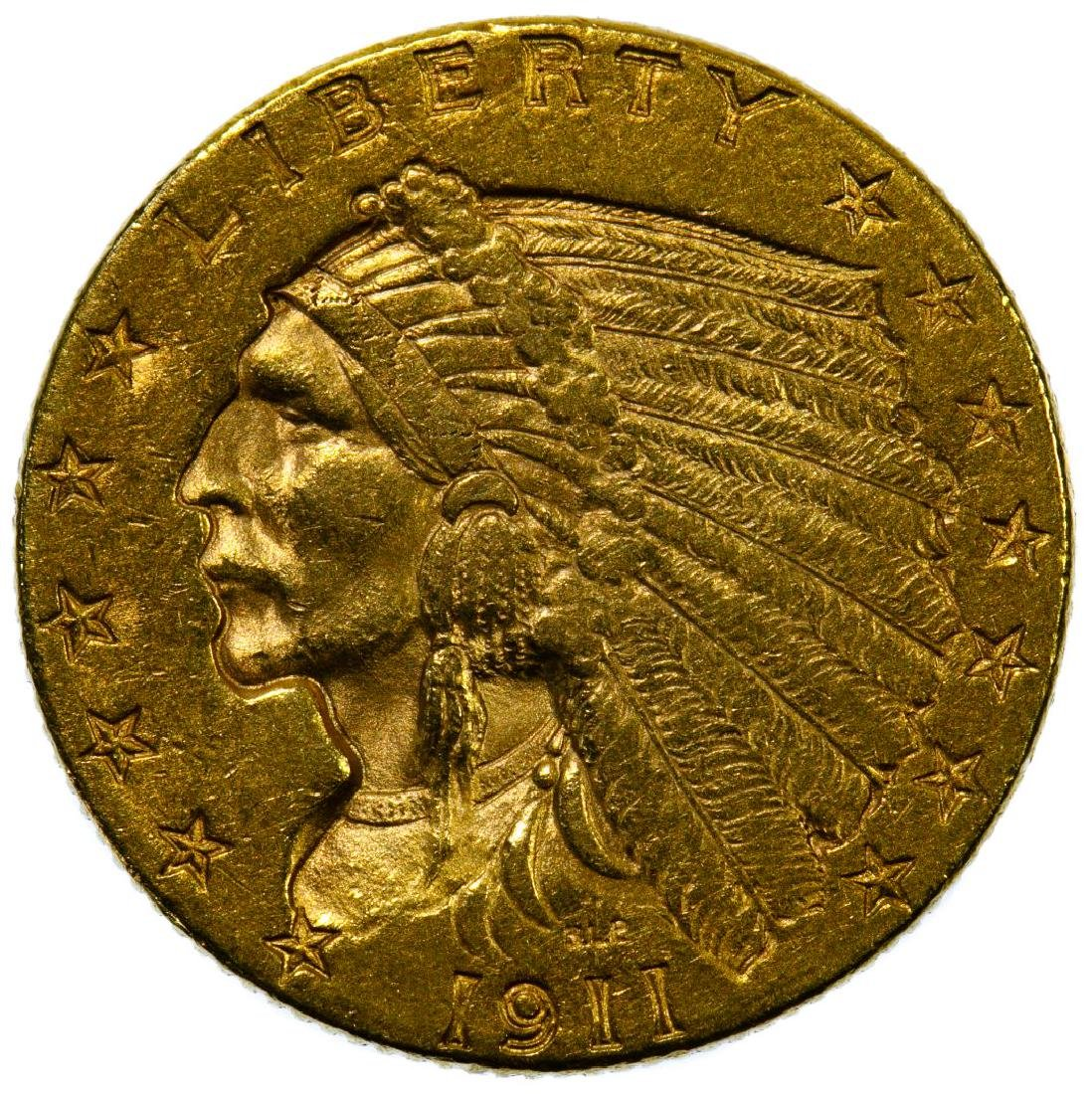 1911 $2 1/2 Gold AU