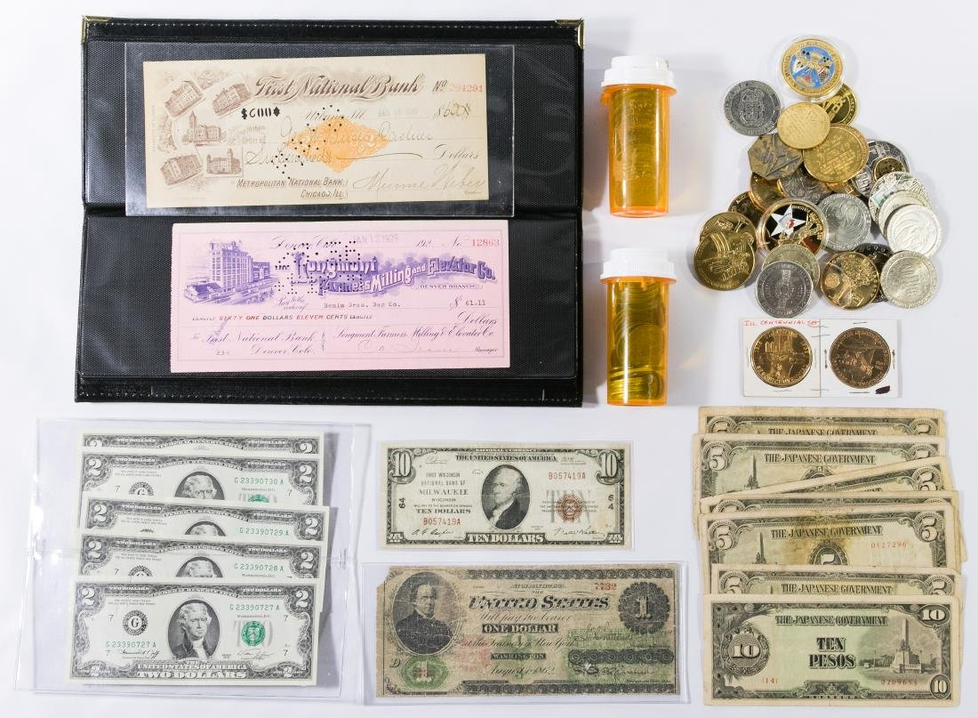1862 $1 and 1929 $10 National Milwaukee