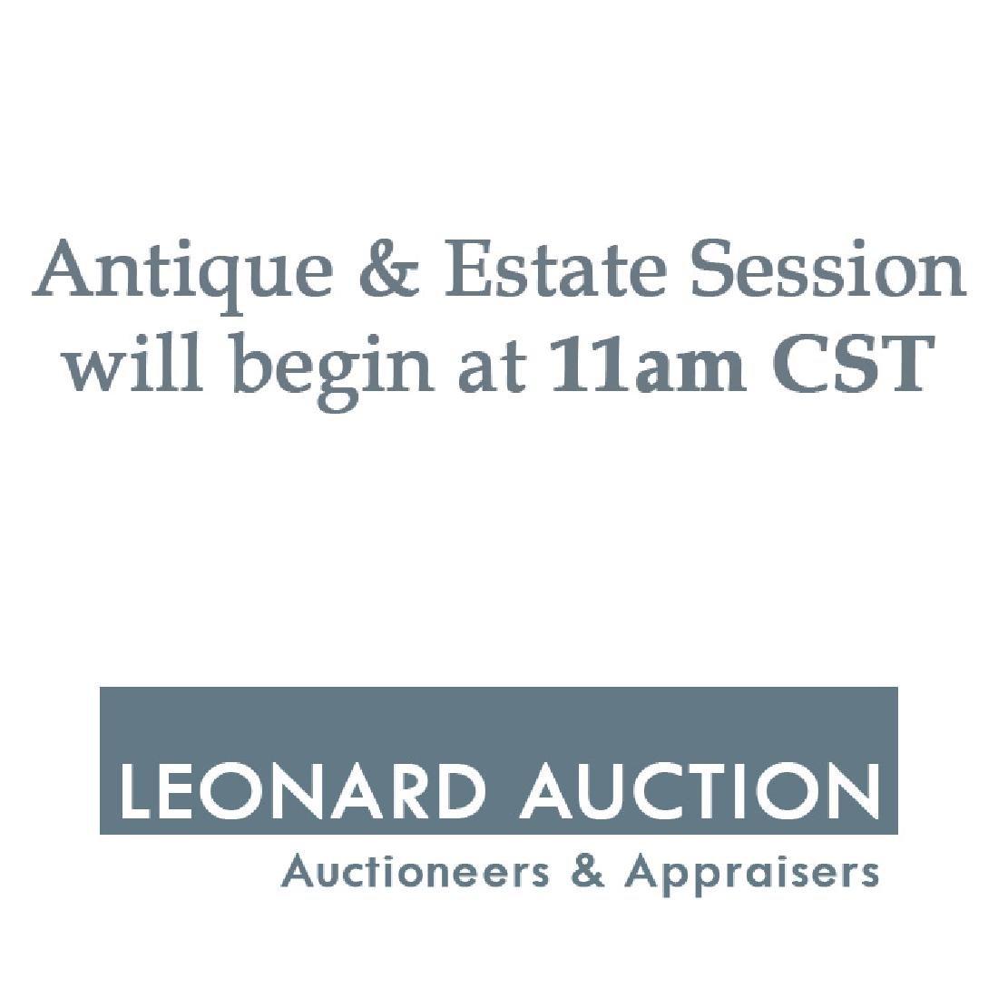 The Antique & Estate Session Begins at 11am CST