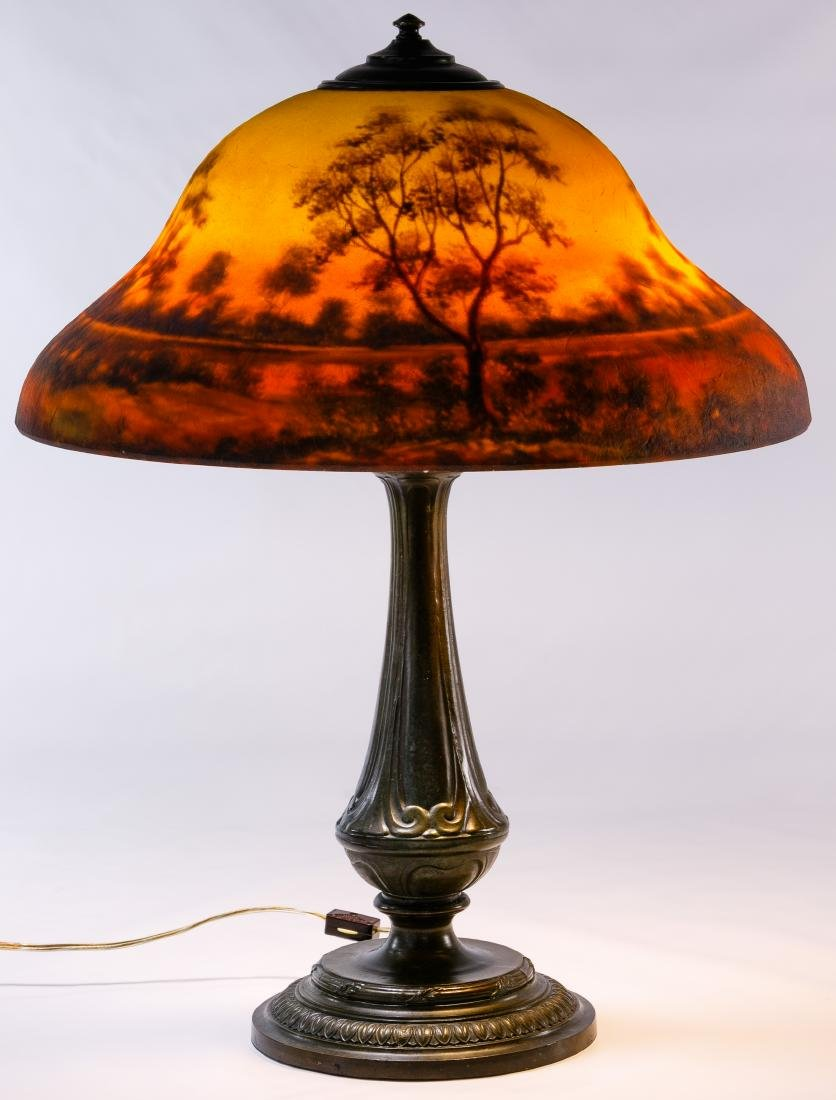 Reverse Painted Shade Table Lamp