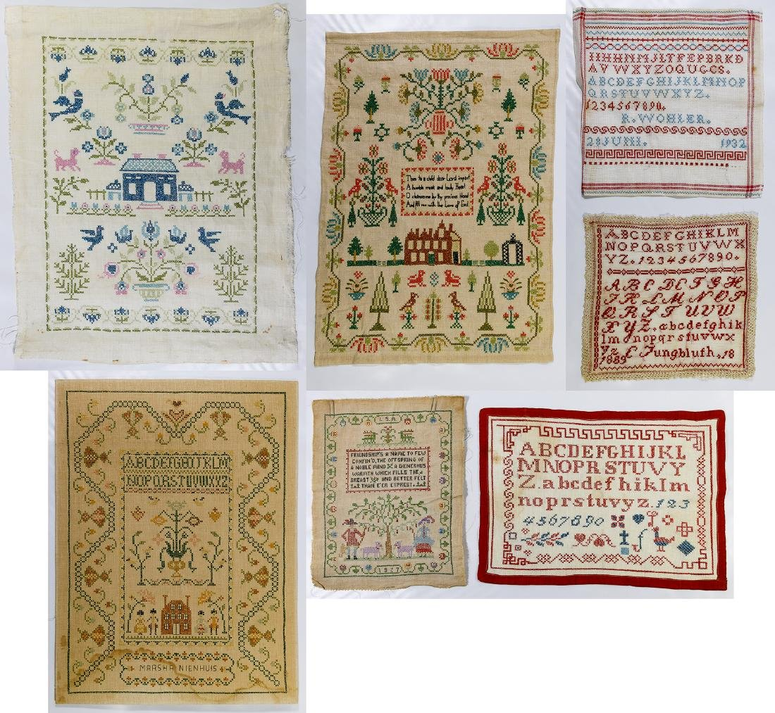 Needlework on Linen Assortment