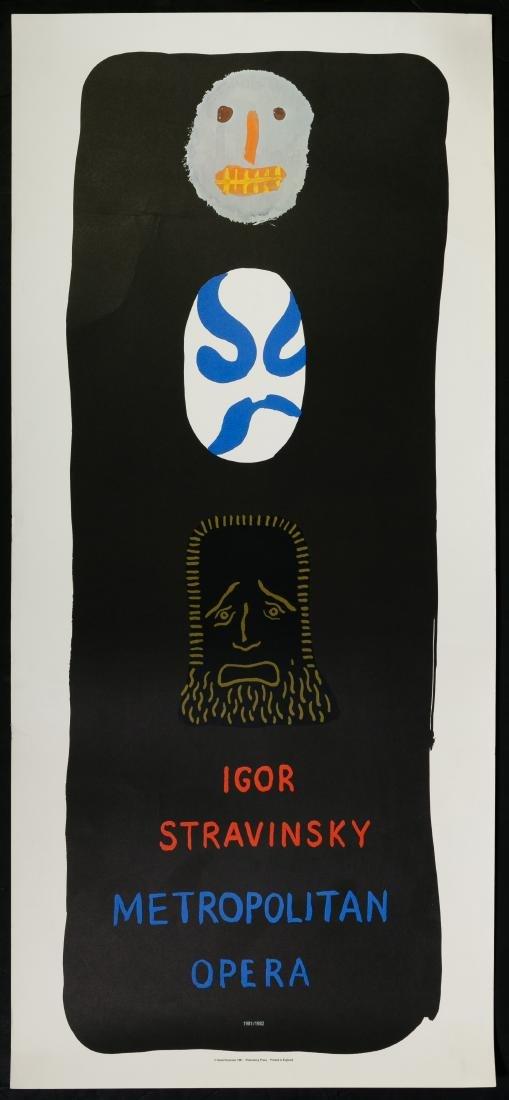 David Hockney (American, b.1937) Opera Poster