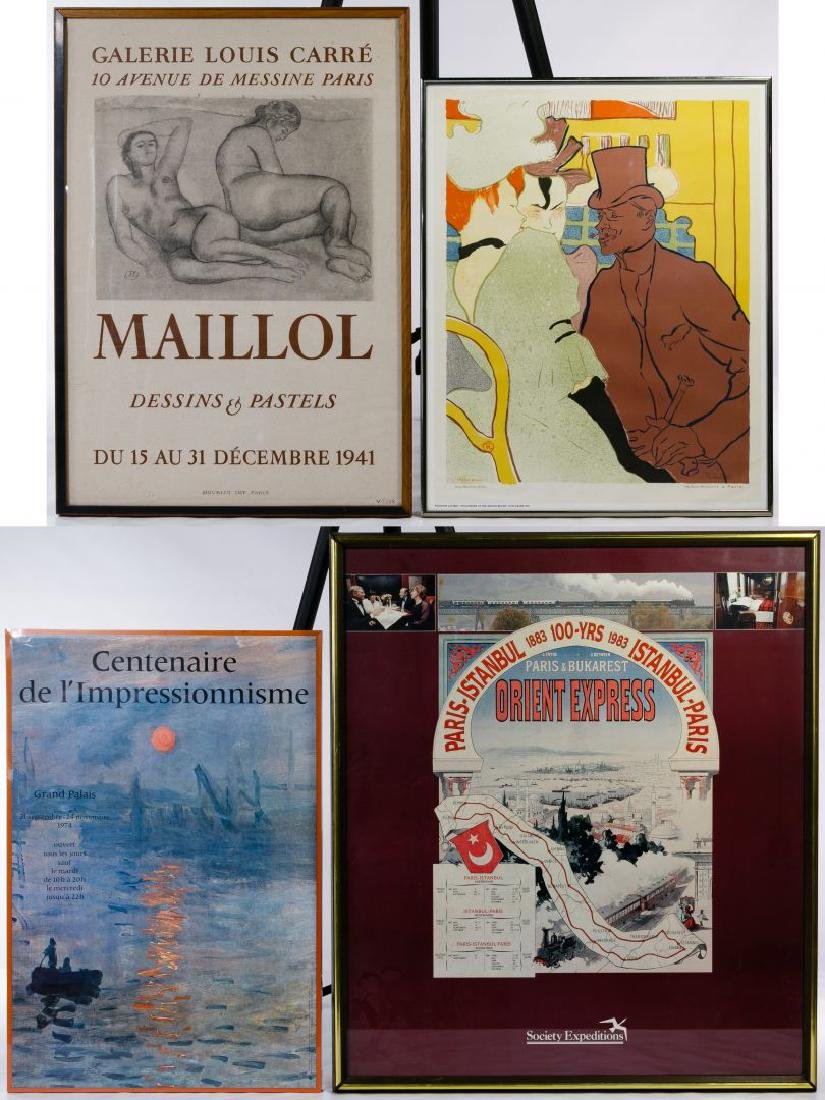 French Artist Exhibition Poster Assortment