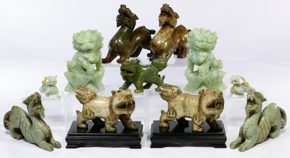 Asian Carved Stone Animal Assortment