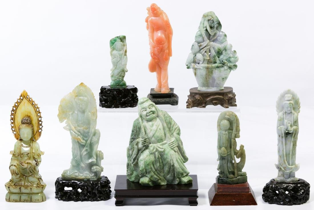 Asian Carved Stone Deity Assortment