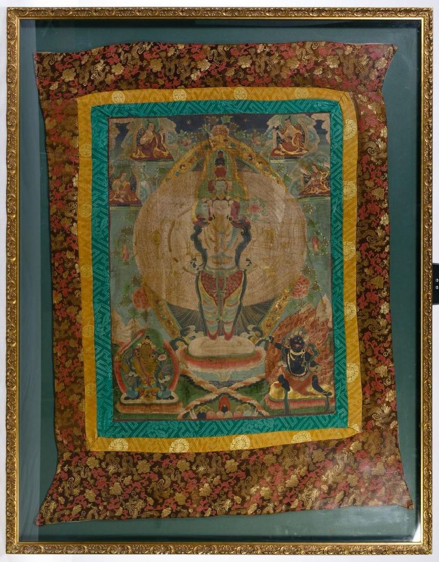 Buddhist Thangka Painting on Silk