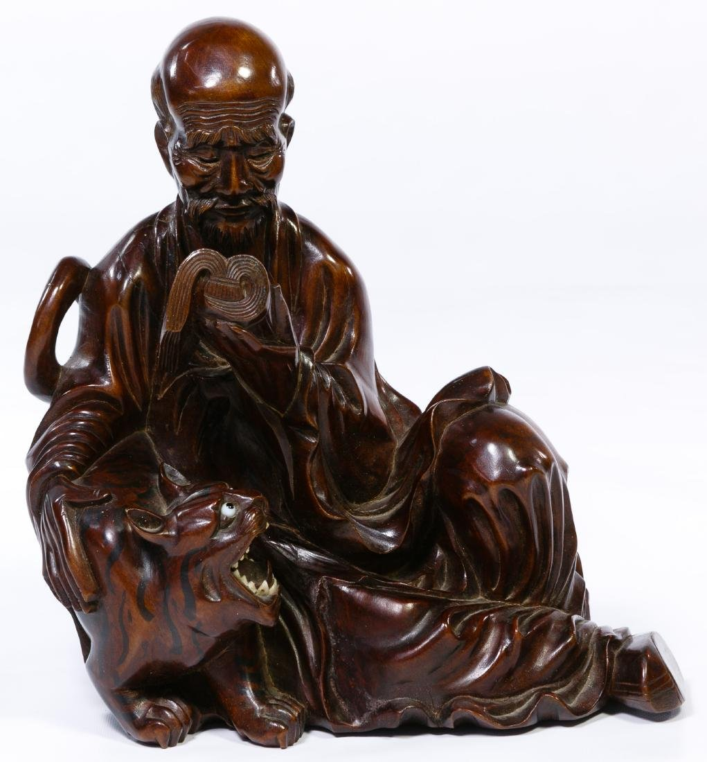 Chinese Carved Wood Figurine