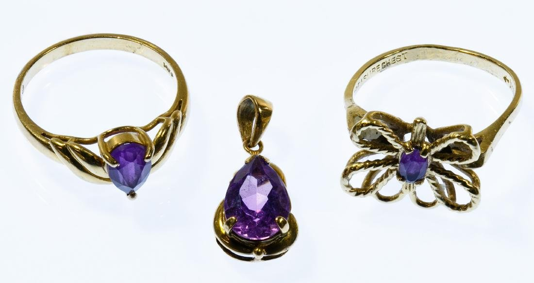 14k Gold and Amethyst Jewelry Assortment
